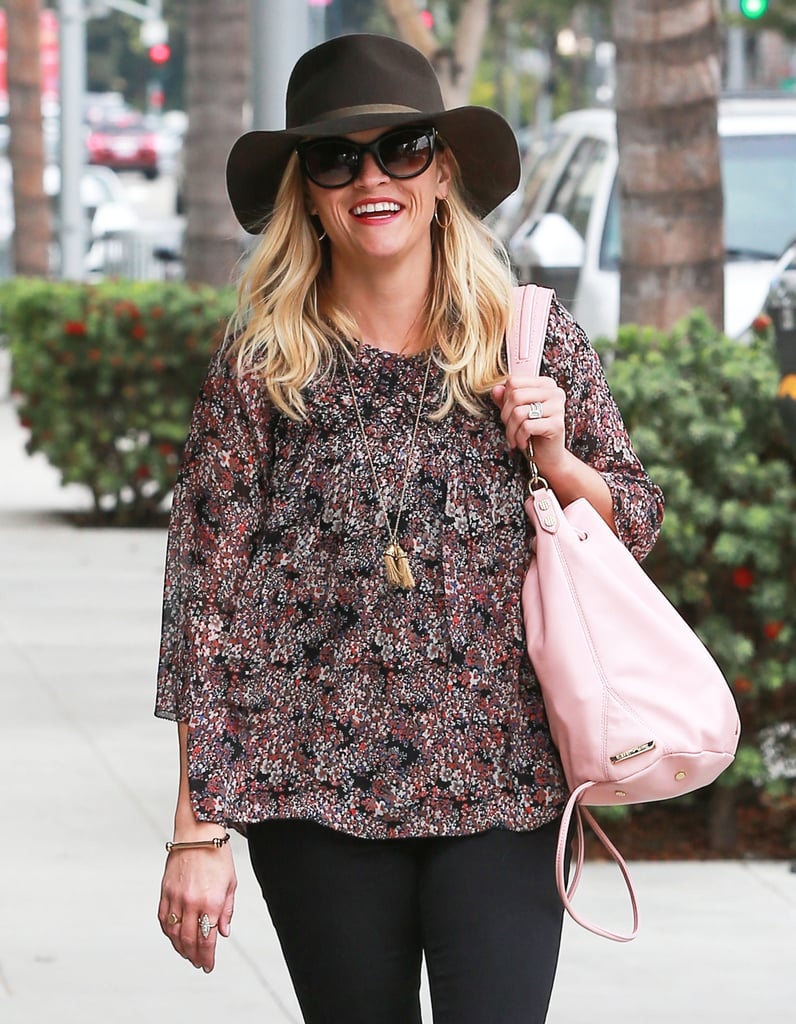 Reese Witherspoon stepped out with a smile in Beverly Hills, CA, on Thursday.