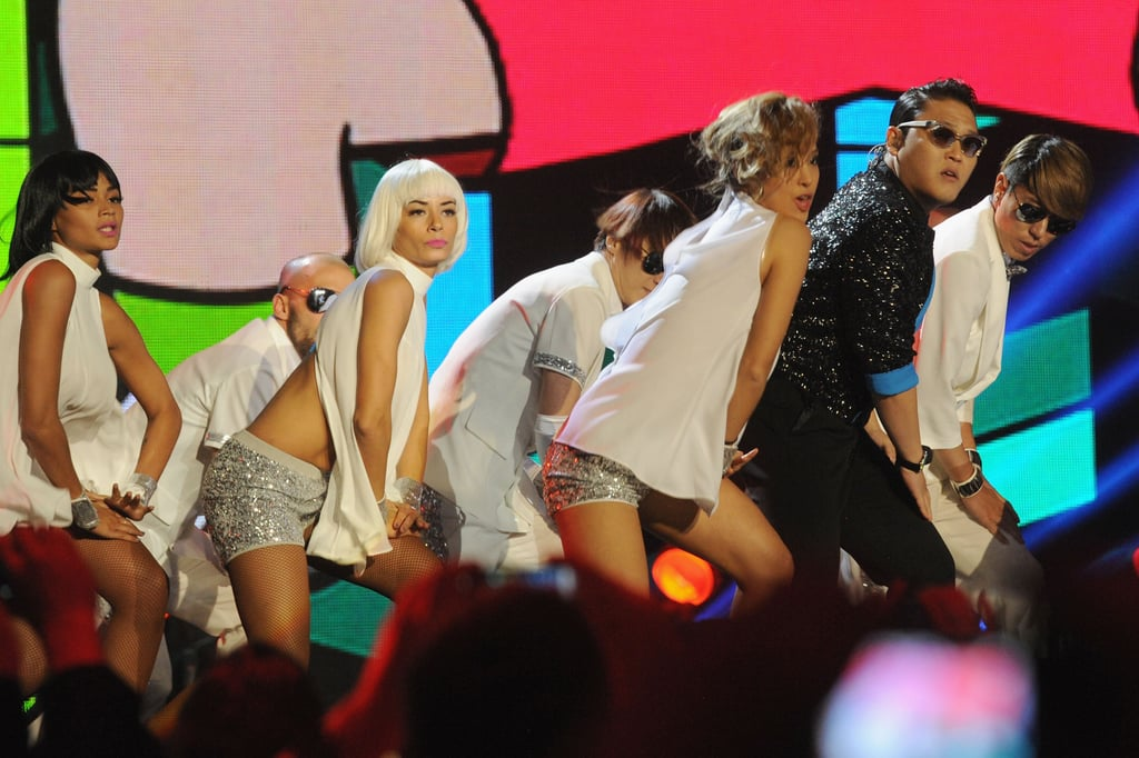 PSY performed at the awards in Frankfurt.