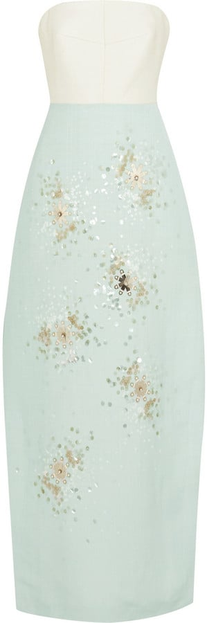 Delpozo Strapless Embellished Gown ($4,000)