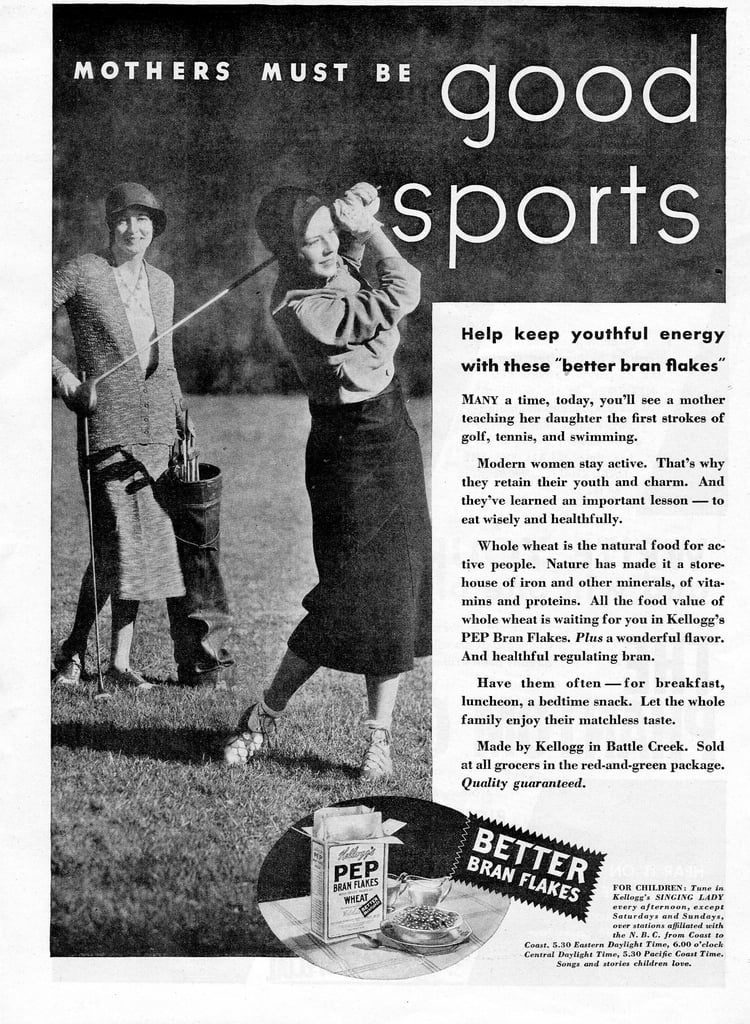 """Hey, listen to the ad: """"Modern women stay active."""""""