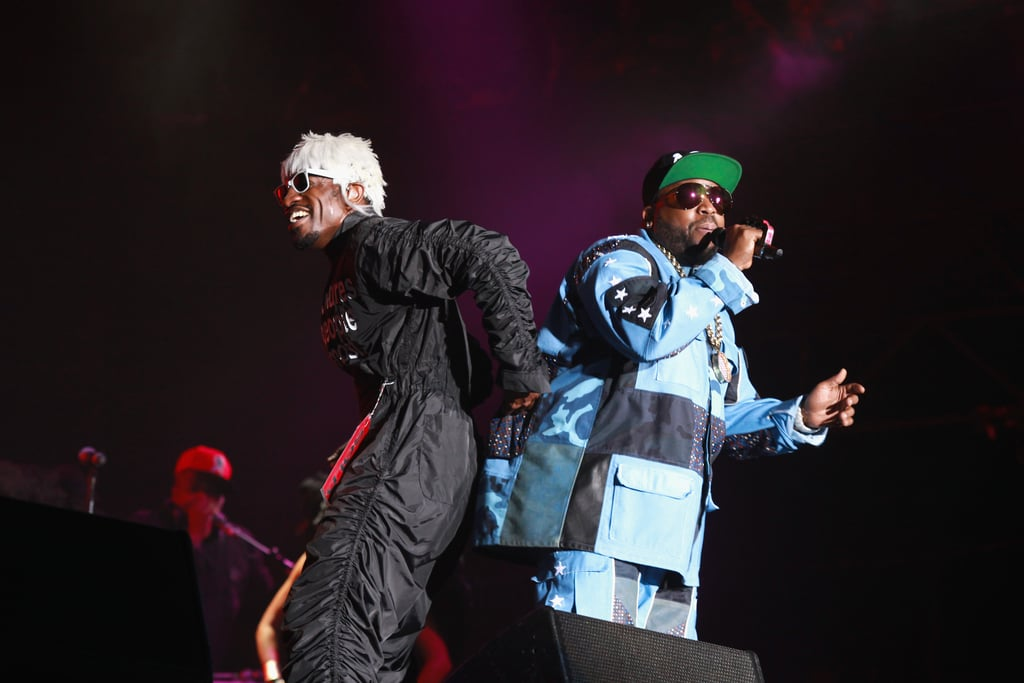 Andre 3000 and Big Boi of Outkast let loose while performing at Lollapalooza on Saturday.