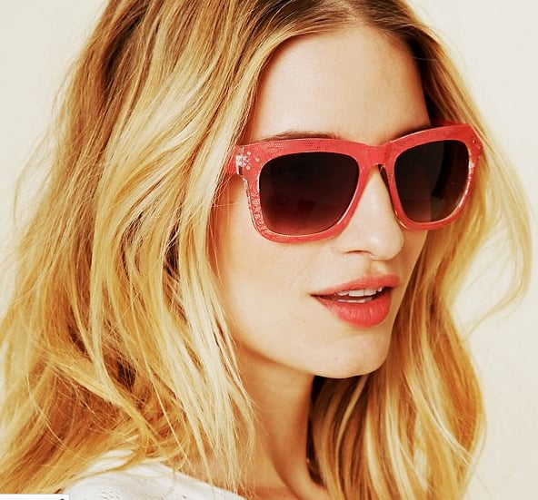 These frames come not only in a collection of cool hues, but also with a totally unique lace print.  Free People Lace-Print Sunglasses ($24)
