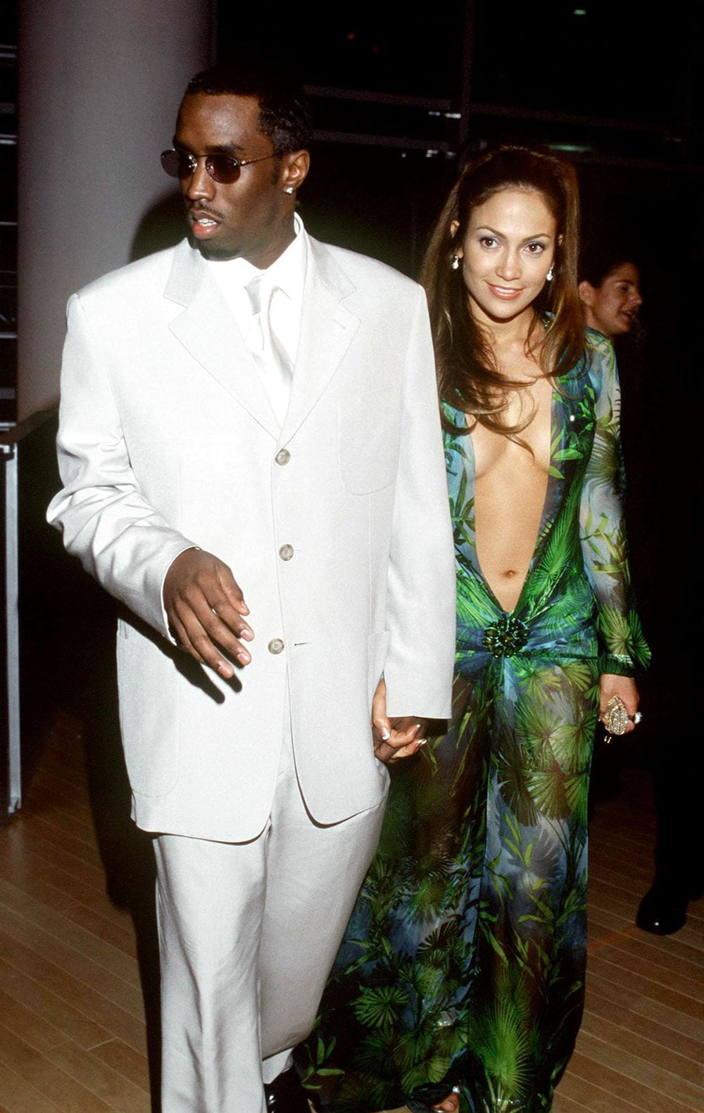 Jennifer Lopez wowed the crowd in that now-infamous Versace gown alongside Diddy in 2002.