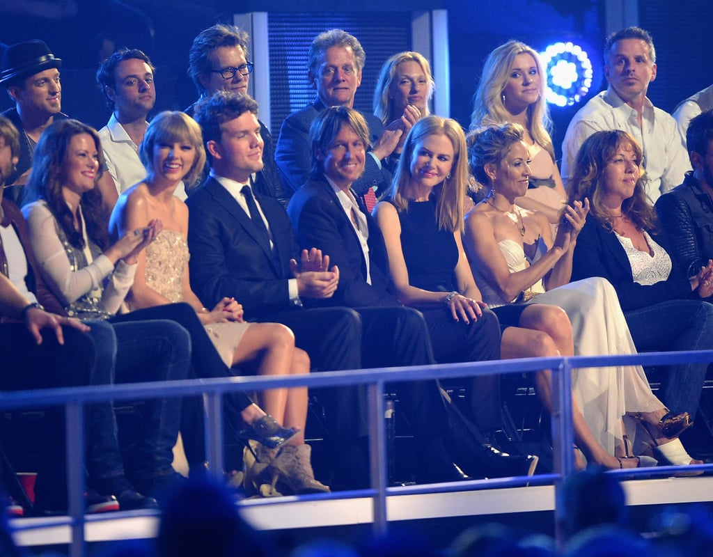 Celebrities applauded at the CMT Awards.