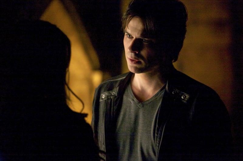 "Ian Somerhalder smolders as Damon on the season finale, ""Home."""