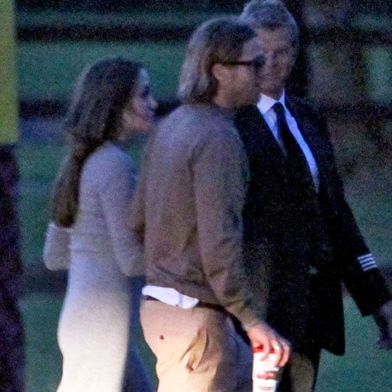 Brad Pitt and Angelina Jolie Pictures Together on Helicopter
