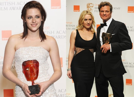 Photos from the Press Room Plus Full List of Winners from the BAFTA Awards 2010 Including Winners Kristen Stewart & Colin Firth 2010-02-21 16:15:28