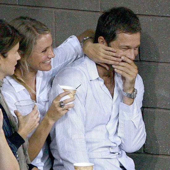 Photo of Cameron Diaz and Paul Sculfor at US Open