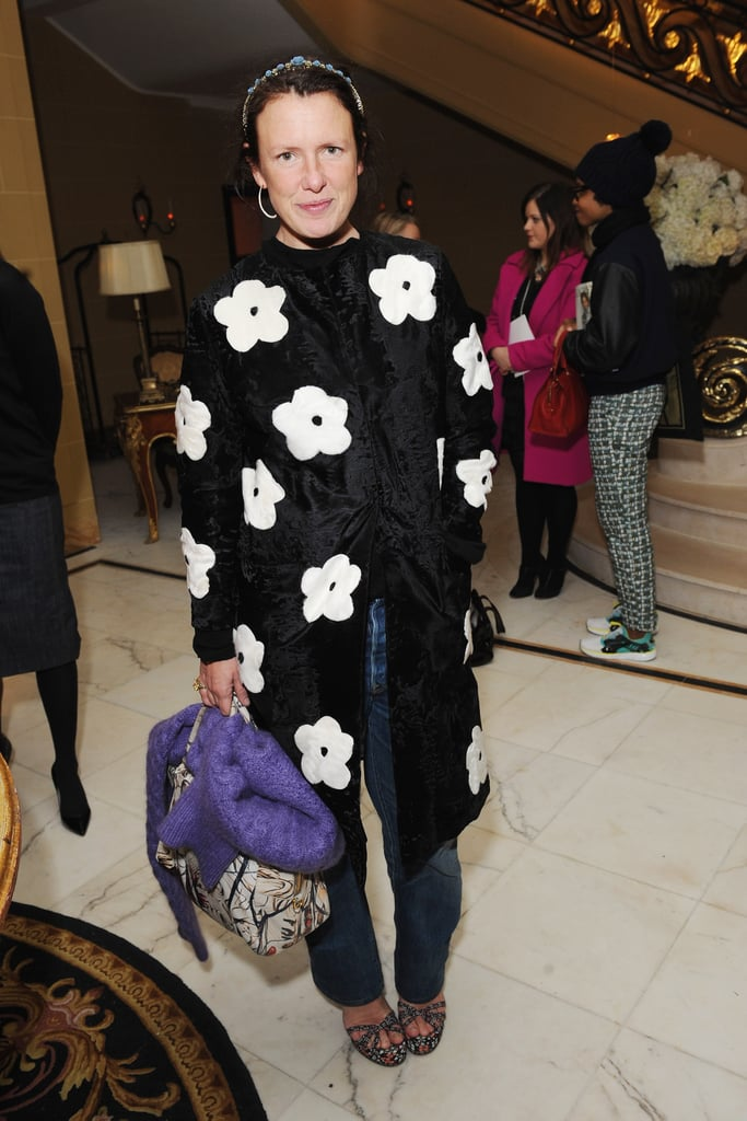 Katie Grand posed for photos at the-miumiu-london day two.