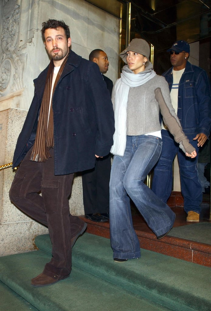 Ben and Jen bundled up during their trip to NYC in December 2003.