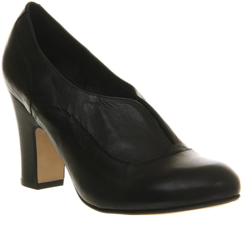 Office Lunch Box Black Leather - Mid Heels