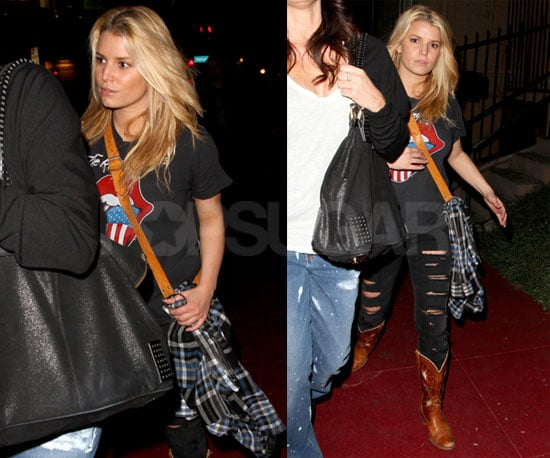 Photos of Jessica Simpson Leaving Dane Cook's Comedy Show at The Laugh Factory in LA