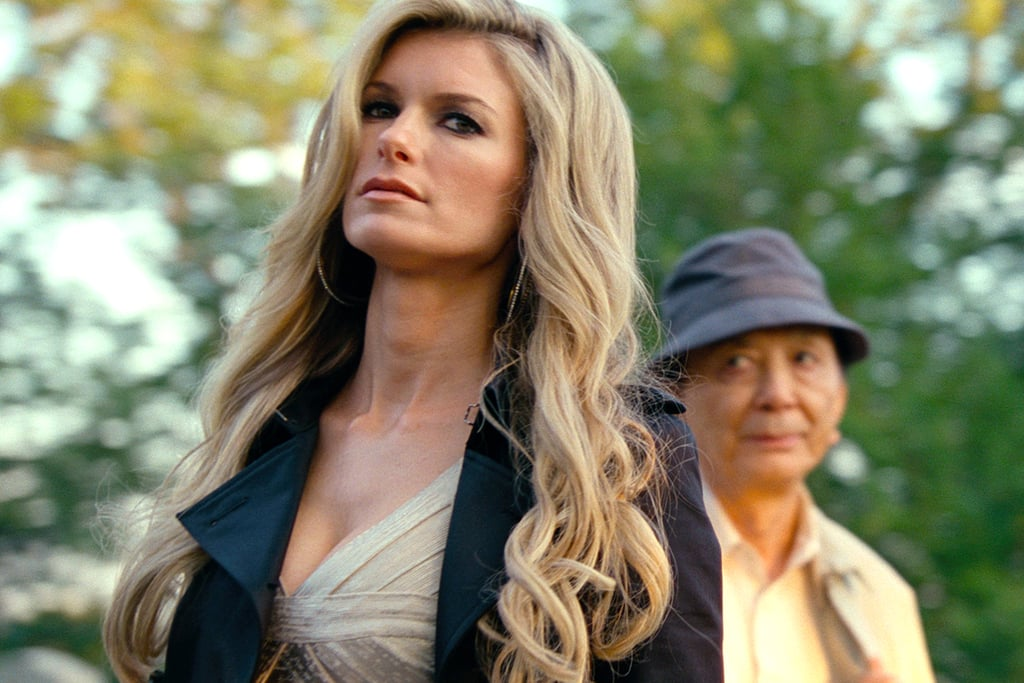 Marisa Miller and James Hong as Roy and Nick's avatars (what regular mortals see) in R.I.P.D.