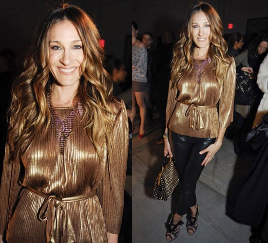 Sarah Jessica Parker at 2010 Fall Halston Show at New York Fashion Week