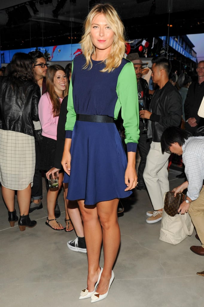 Tennis star Maria Sharapova looked fresh in this colorblocked dress from the Phillip Lim for Target partnership.