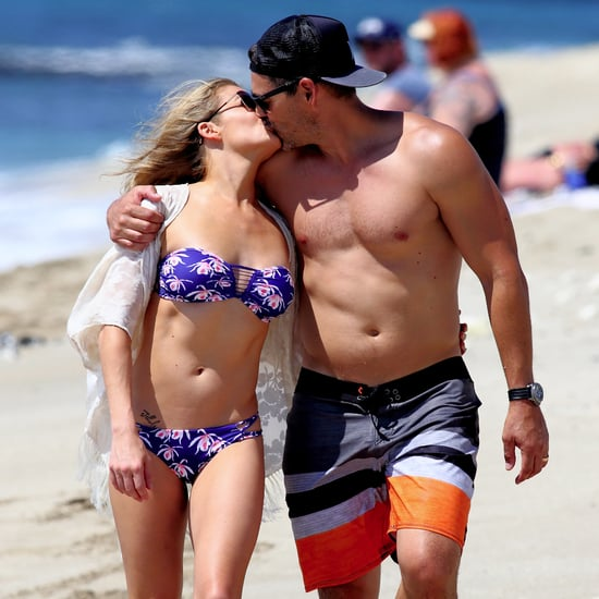 LeAnn Rimes and Eddie Cibrian Kissing on the Beach