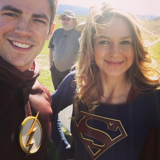 The Flash and Supergirl Instagram Photos