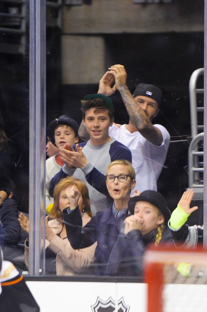 The Beckhams Are the Most Adorable Hockey Fans