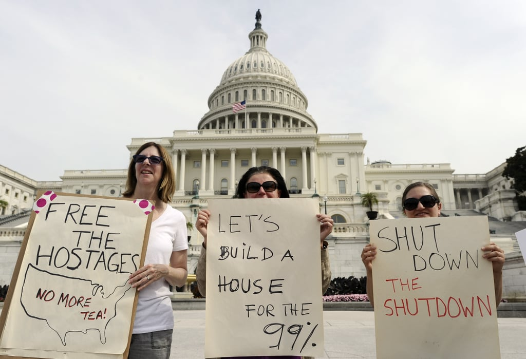 Women joined a demonstration at the US Capitol in Washington DC.