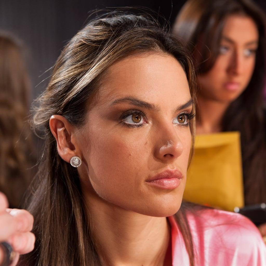 Alessandra Ambrosio wore sparkly stud earrings.