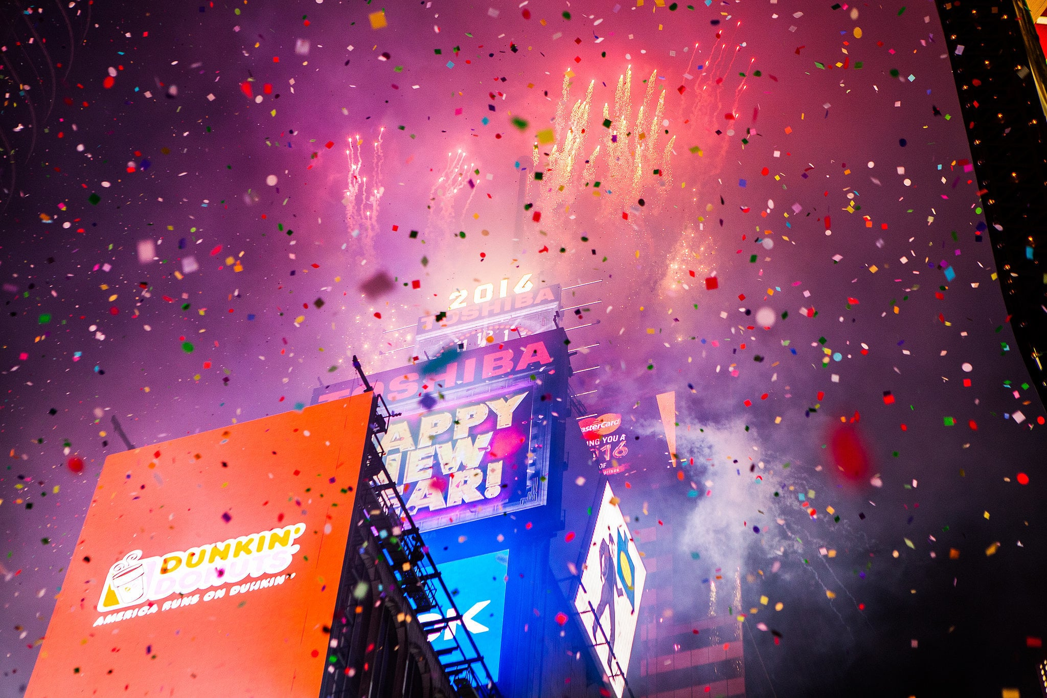 Or how about having the Times Square New Year fireworks as your wedding backdrop?