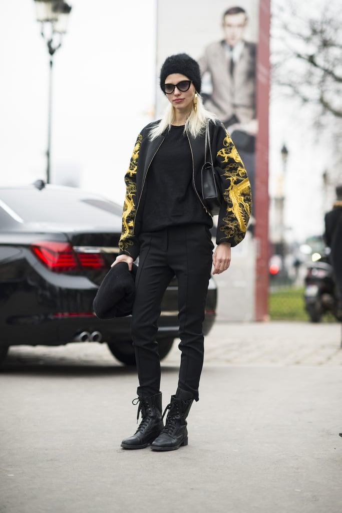 Tough-girl with a Versace-inspired twist. Source: Le 21ème   Adam Katz Sinding