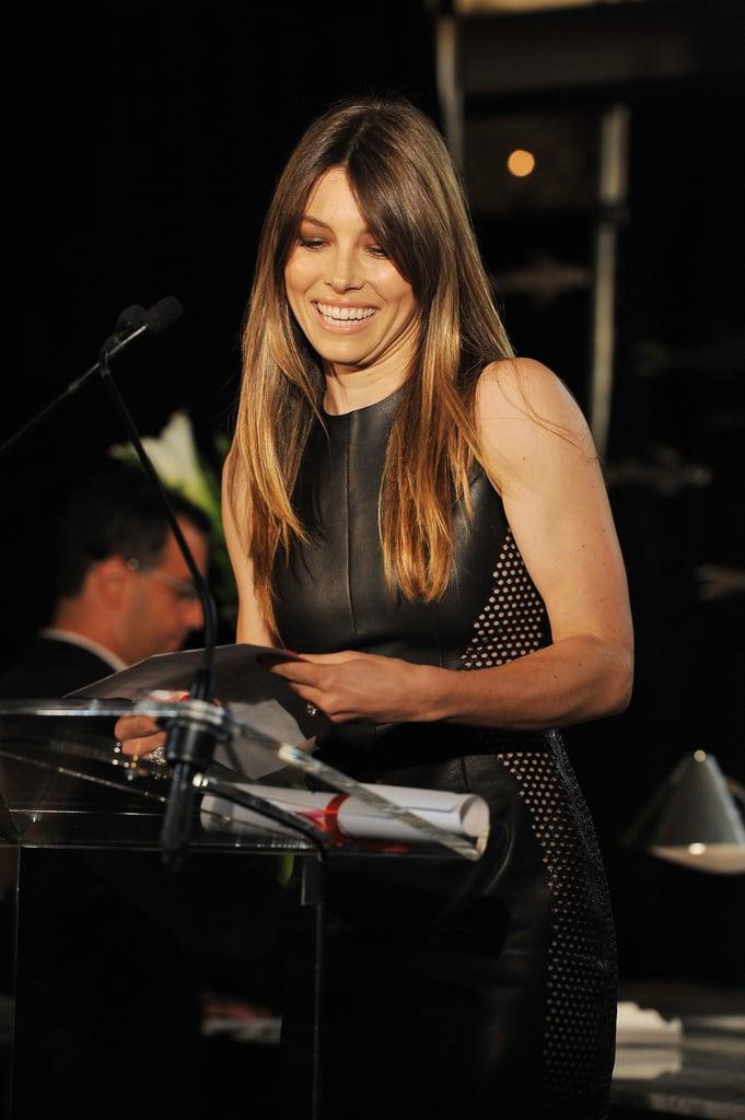 Jessica Biel at Daily Front Row's Fashion Media Awards.
