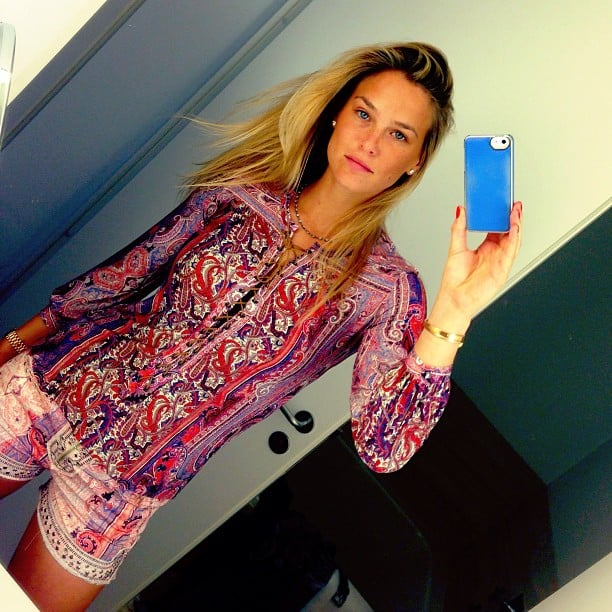 Bar Refaeli showed off a colorful printed look from Isabel Marant. Source: Instagram user barrefaeli