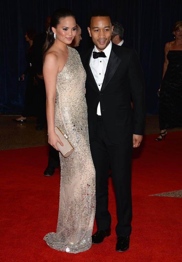 Chrissy Teigen and John Legend attended the the 2013 White House Correspondents Dinner.