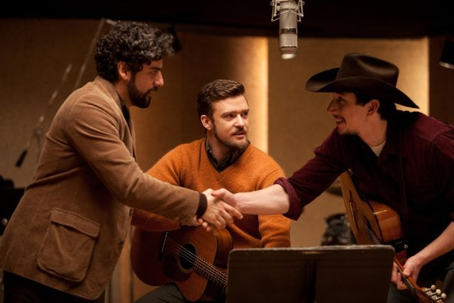Inside Llewyn Davis  What it's about: A young songwriter (Oscar Isaac) struggles in 1960s New York, trying to find producers to take a chance on his folk music. Why we're interested: See that guy in the mustard sweater? That's Justin Timberlake, and he's just one of the stars in Joel and Ethan Coen's Greenwich Village-set movie. Carey Mulligan and Adam Driver are also on board for backup. This can't go wrong. When it opens: Dec. 6 Watch the trailer for Inside Llewyn Davis.  Source: CBS Films