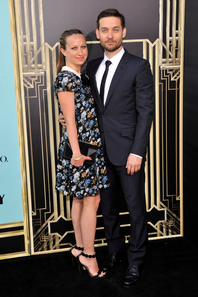 Tobey Maguire and wife Jennifer Meyer arrived on the red carpet together for the NYC premiere of The Great Gatsby.