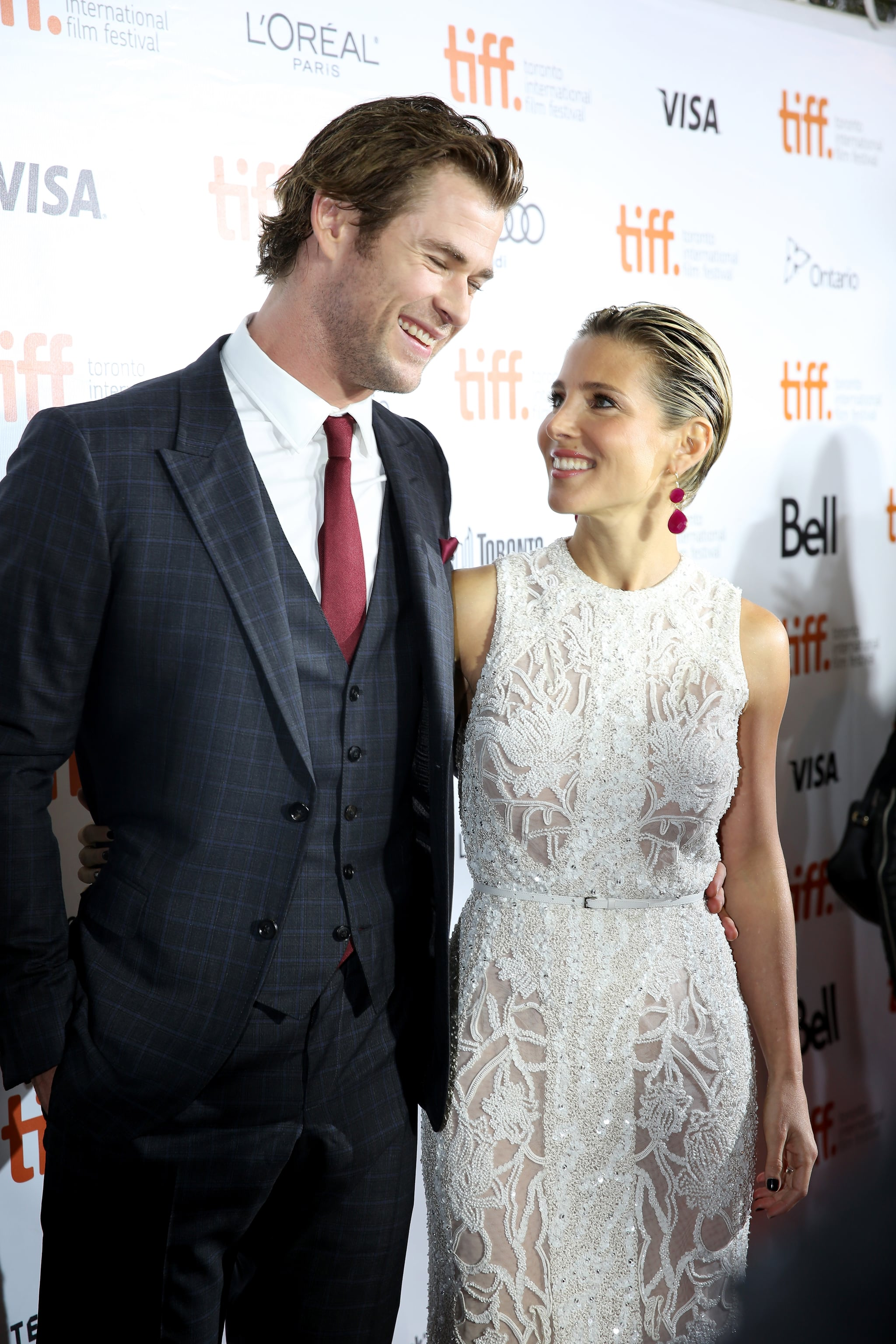 Parents Chris Hemsworth and Elsa Pataky enjoyed a couple's night out.