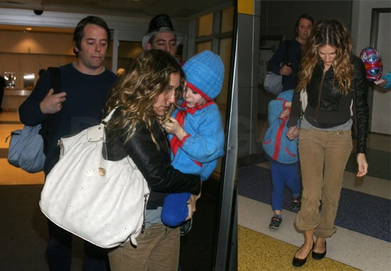 SJP and Matthew Bring Their Little Smurf Back to NYC