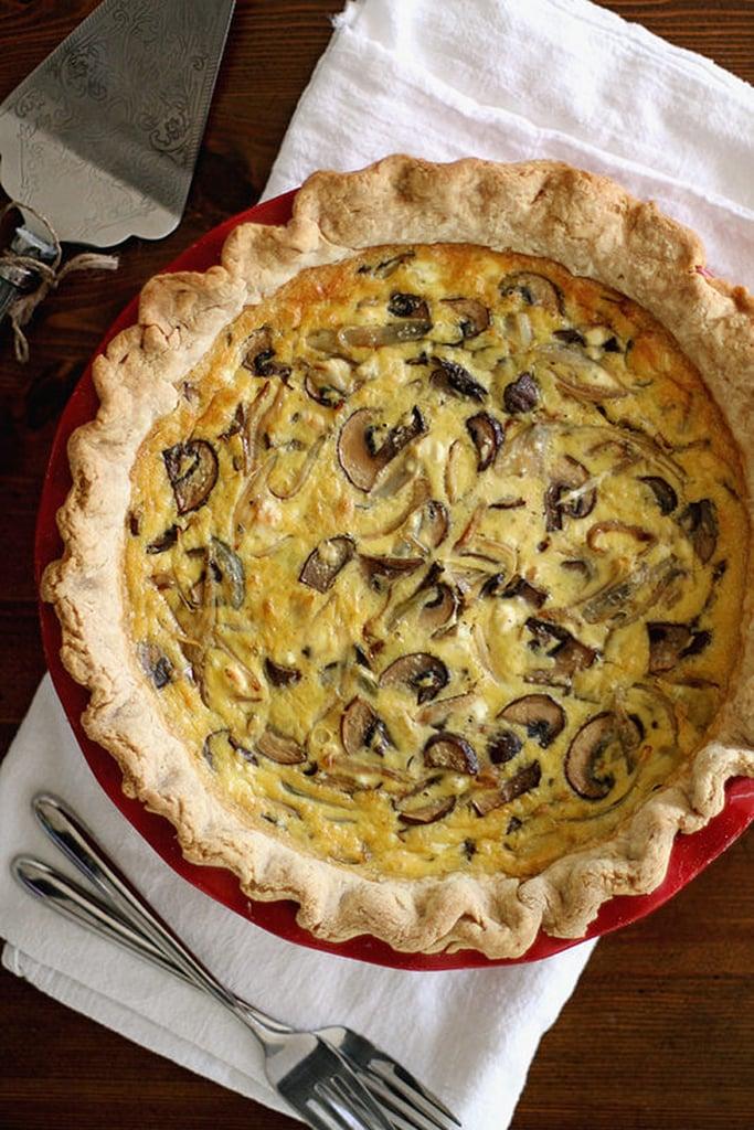 Caramelized Shallot and Mushroom Quiche