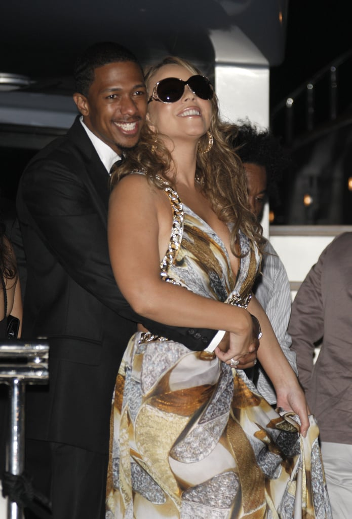 Nick Cannon cuddled up to Mariah Carey at the Cannes Film Festival in May 2009.