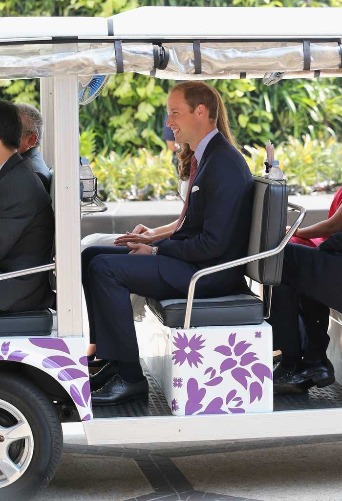 Prince William took a ride on the golf cart in Singapore.
