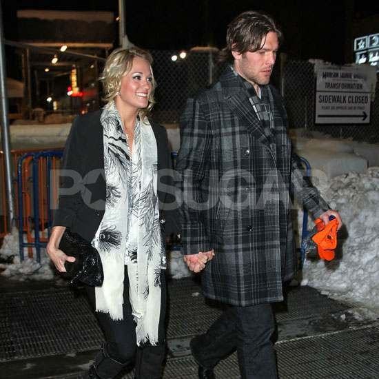 Pictures of Carrie Underwood and Mike Fisher at Knicks Game