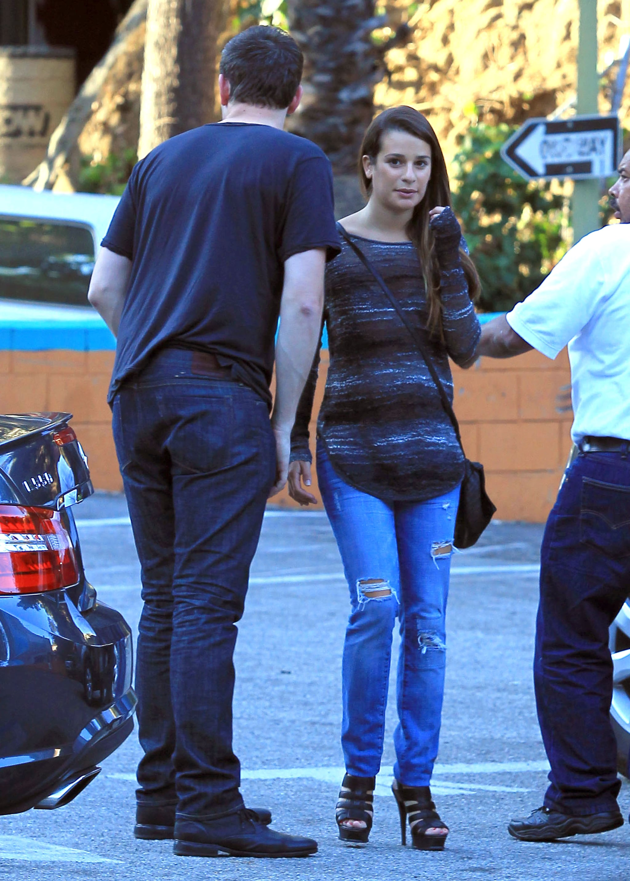 Cory Monteith and Lea Michele had a date.
