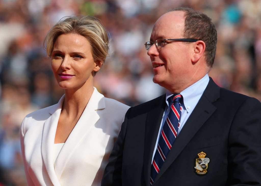 Princess Charlene and Prince Albert presented tennis pros with their trophies at the ATP Monte Carlo Rolex Masters in April 2014.