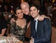 Lea Michele and Darren Criss met up with Ryan Murphy at Friday's Taste For a Cure gala in LA.