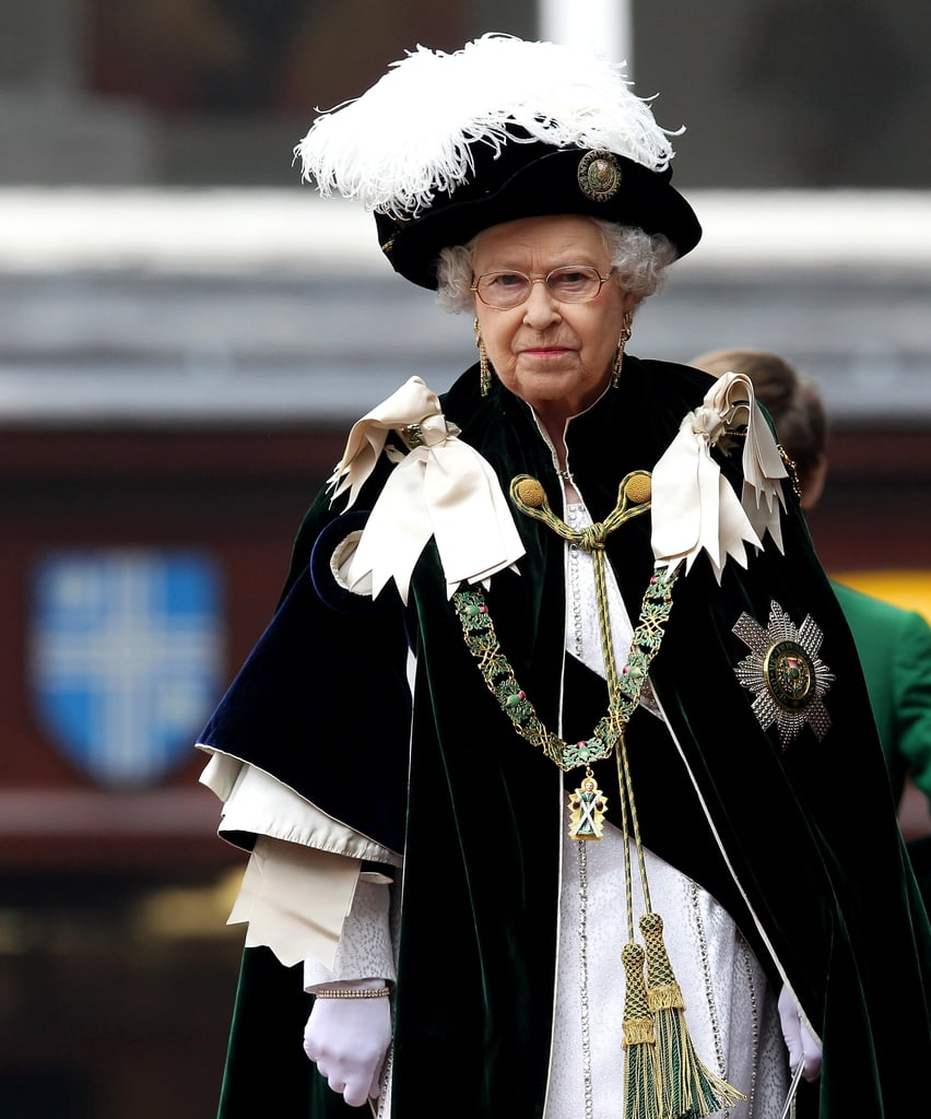 Queen Elizabeth was in attendance at the Thistle Ceremony in Scotland.
