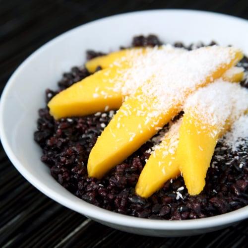 Black Rice With Mango Breakfast