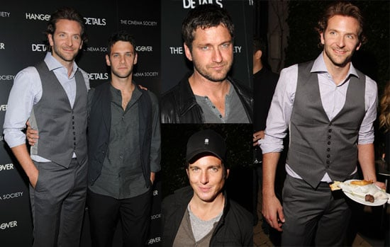 Photos of Bradley Cooper, Justin Bartha, Gerard Butler at a Screening of The Hangover in NYC