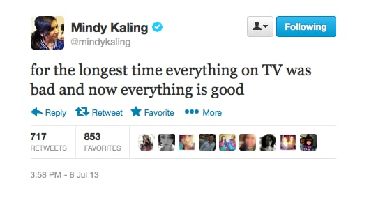 And isn't it just the best, Mindy?