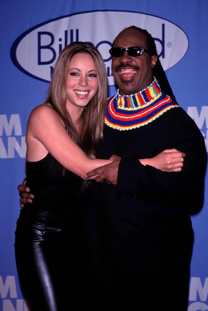 Mariah Carey and Stevie Wonder posed for a pic in 1998.