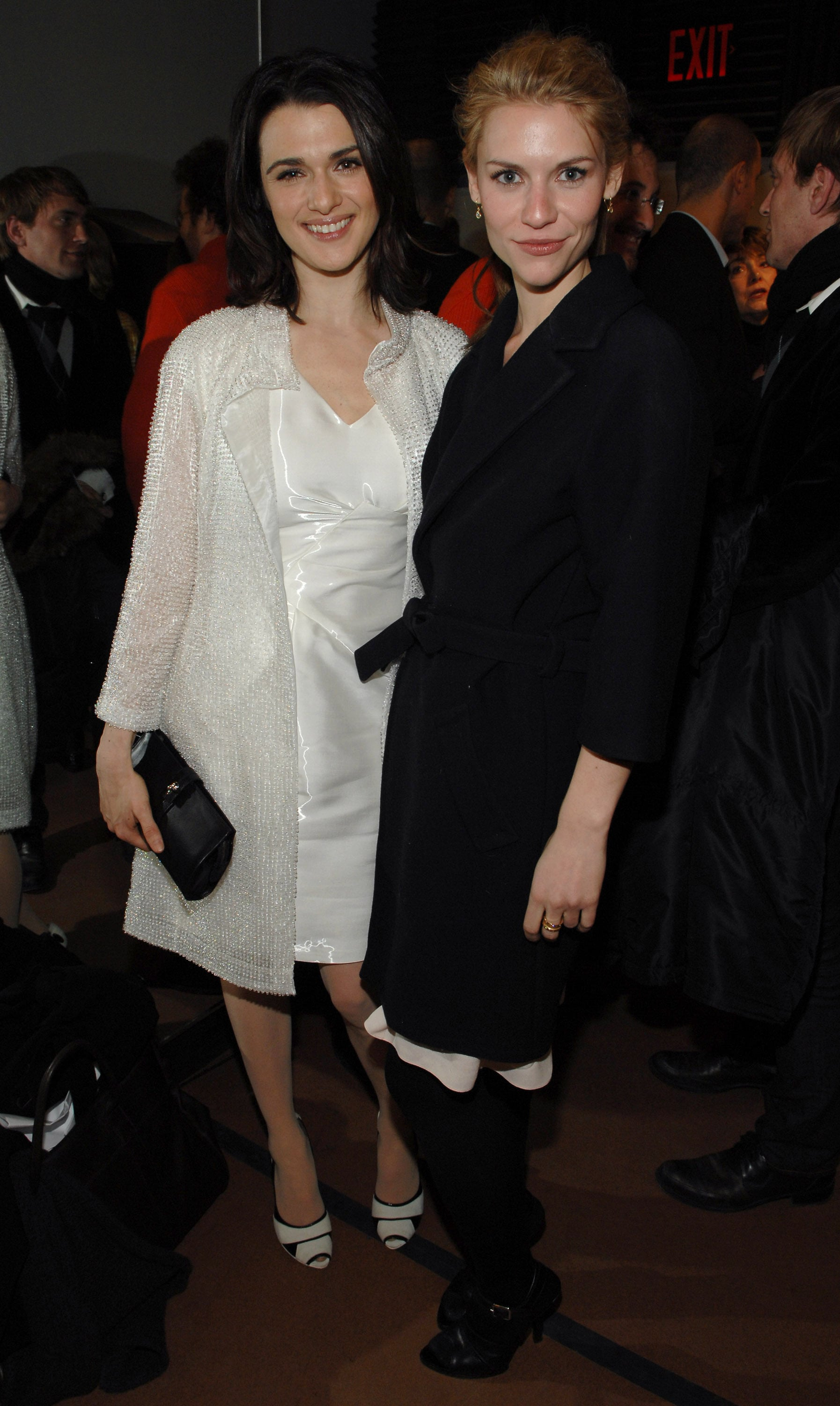 Black-and-white-clad Rachel Weisz and Claire Danes looked pretty and sophisticated during Narciso Rodriguez's February 2007 show.