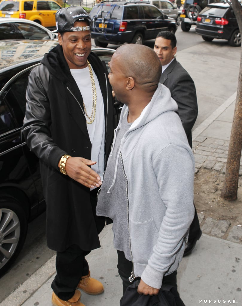 Kanye West met up with Jay-Z.