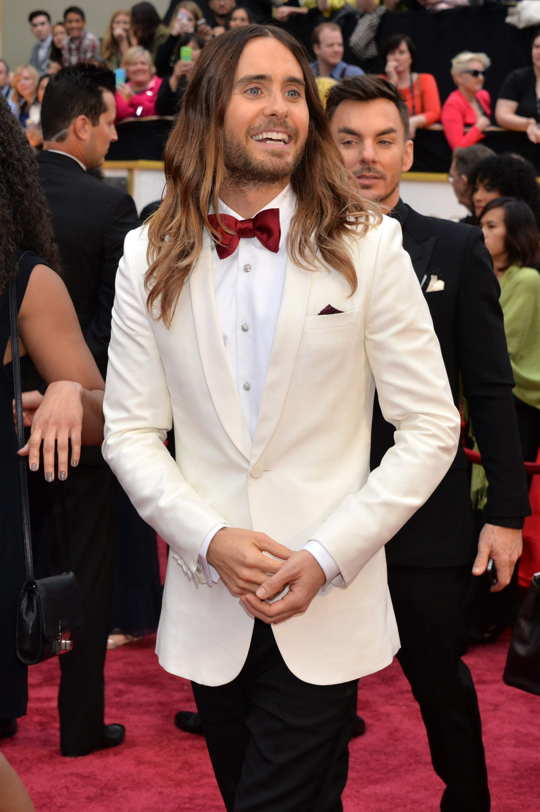 """""""I'm not going to say who looks the most beautiful, but it's Jared Leto."""" — On the good-looking crowd"""