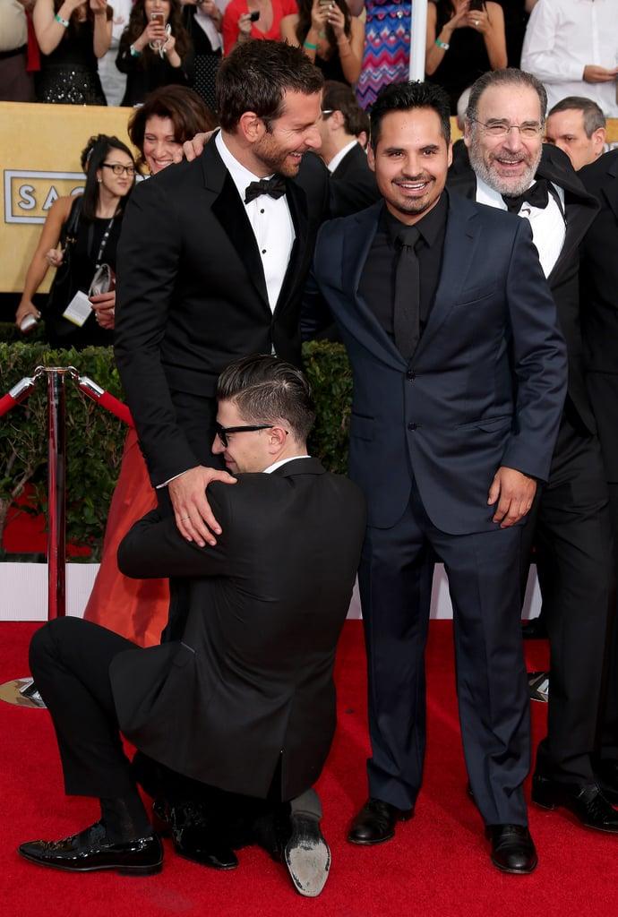 Bradley Cooper Getting a Friendly Crotch Hug