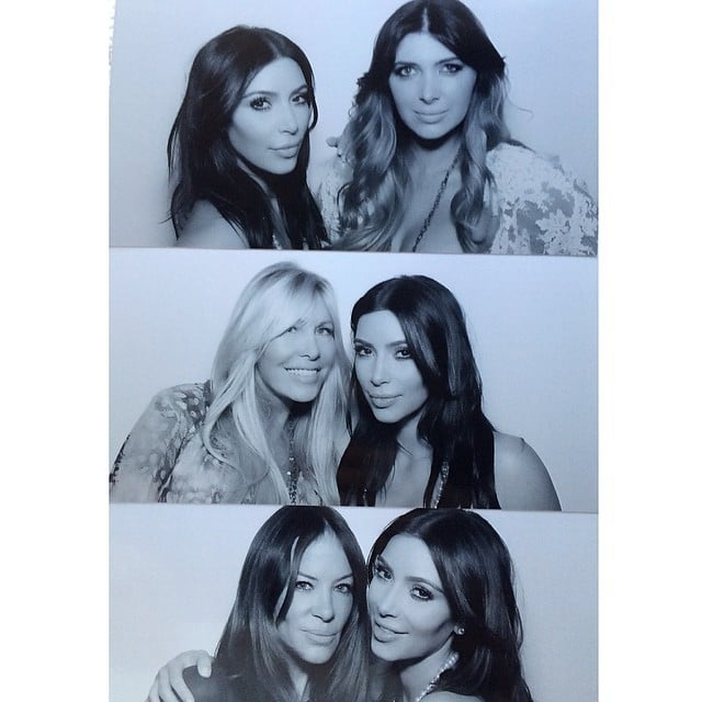 Kim's collage included pictures with Brittny, Lisa Gastineau, and Robin Antin. Source: Instagram user kimkardashian
